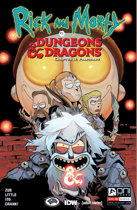 Dungeons and Dragons Comic Book Cover