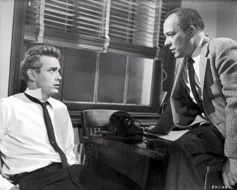 A scene from Rebel Without a Cause