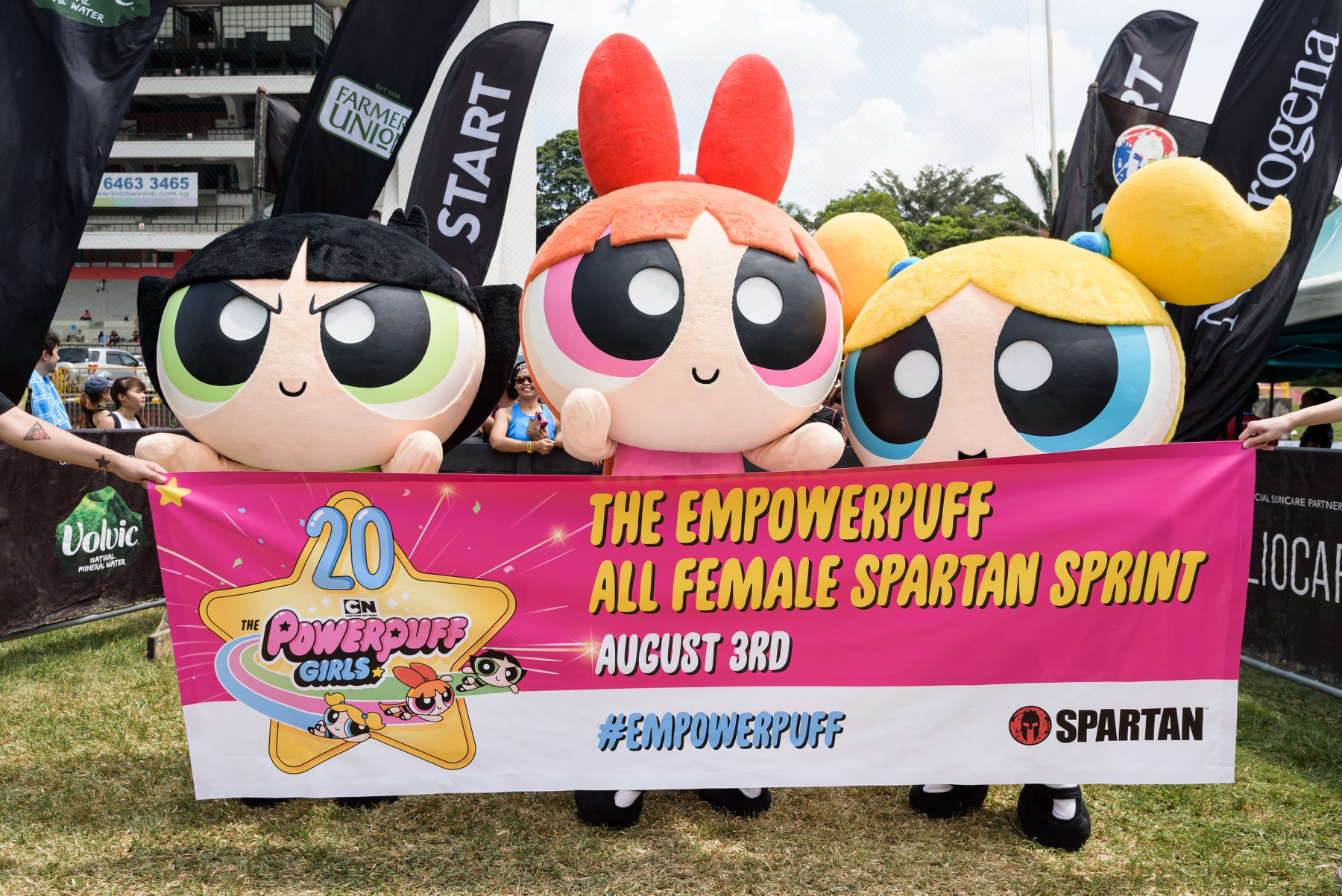 Singapore 'Spartans' suit up as 'The Powerpuff Girls'