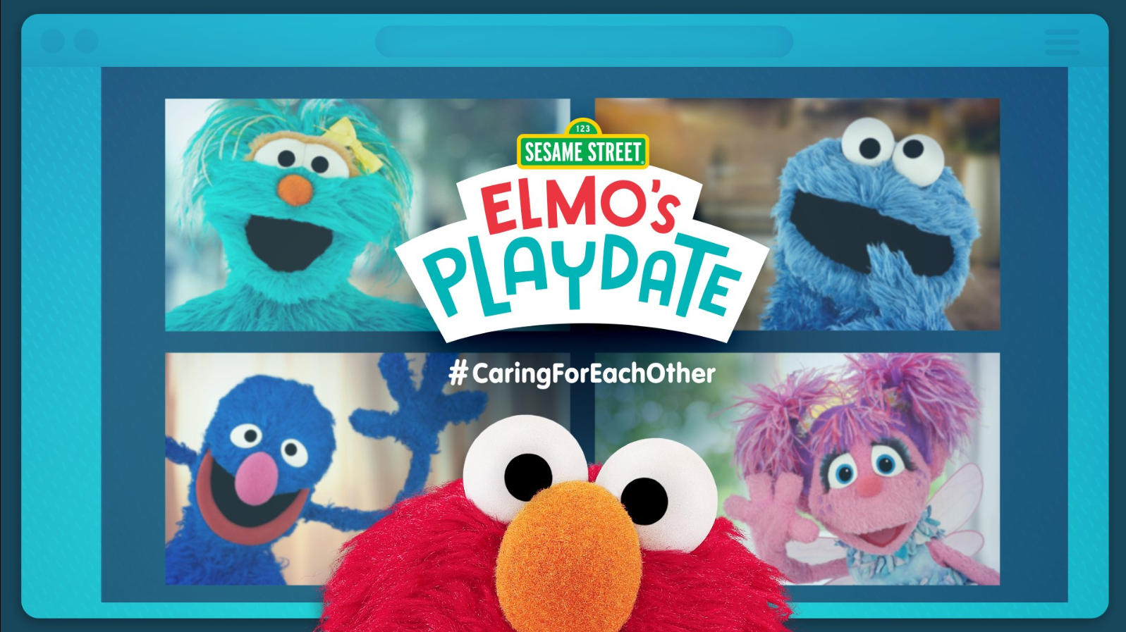 Elmo's virtual playdate simulcast!