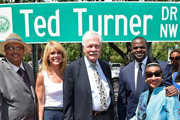 Atlanta Drive Dedicated to Ted Turner